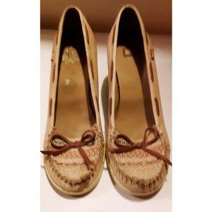 BC Footwear Loafer Wedges